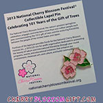 2013 National Cherry Blossom Festival Pin