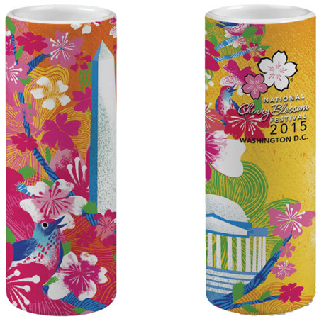 2015 National Cherry Blossom Festival Tall Ceramic Shot Glass
