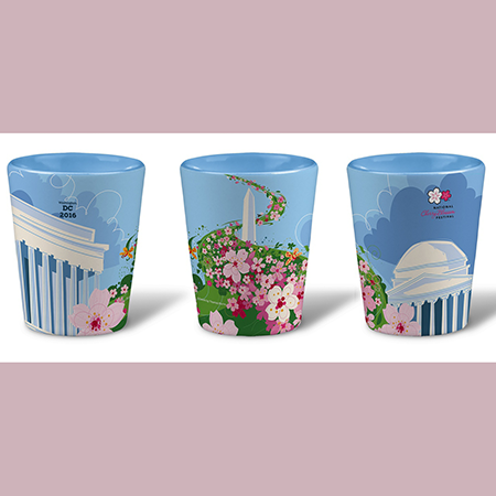 2016 National Cherry Blossom Festival Ceramic Shot Glass