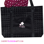 Cherry Blossom Festival Embroidered Quilted Bag