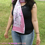 Silk Cherry Blossoms Scarf