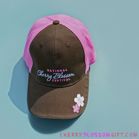 National Cherry Blossom Festival Hat (Brown/Pink)