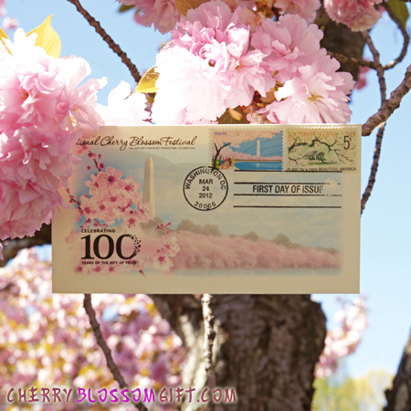 National Cherry Blossom First Day of Issue Stamp