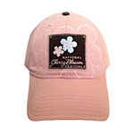 Pink Cherry Blossom Patch Hat