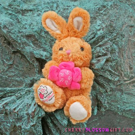 Cherry Blossom Stuffed Rabbit